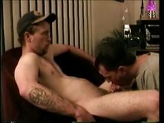 Hunky straight stud johnny gets his cock sucked.