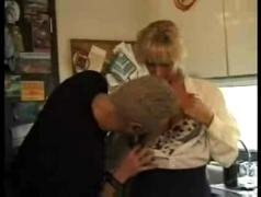 Homemade german video hot mom takes son and his friend