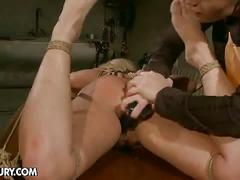 Salome and kathia nobili in lesbian bdsm action
