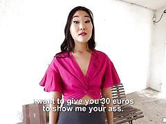 Quick cash for an asian blowjob