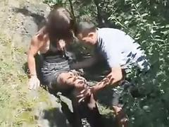 Quick sex outdoors