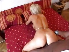 Blonde loves black cock