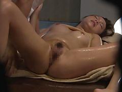 milf, japanese, japanese massage, fingering, oil massage, from behind, peeping, milfs in japan, erito