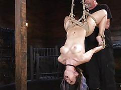 Serena is hanged upside down