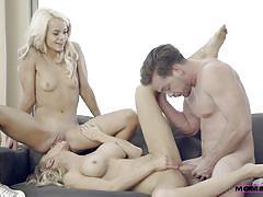 milf, blonde, threesome, big tits, babe, missionary, from behind, mom teaching, pussy eating, ffm, boobs groping, moms teach sex, nubiles porn, alix lynx, elsa jean, kyle mason