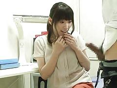 Asian milf gets fingered at doctor's office
