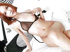 redhead, solo, masturbating, asian, bubble butt, ts playground, evil angel, mikki a