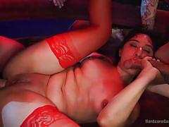Latina babe takes all comers