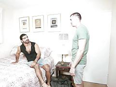 hunk, masturbation, blowjob, kissing, pick up, interracial, arab, ponytail, roommates, str8 to gay, men.com, jack hunter, ali liam