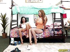 Lena paul surprises her roommate