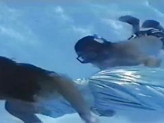 Arin underwater striptease
