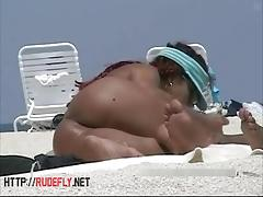 Hot nude beach voyeur spy cam video