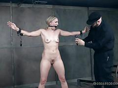 milf, threesome, bdsm, bound, tortured, gagged, chained, weights, electric shock, arms pinch, real time bondage, riley reyes