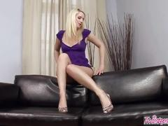 Twistys - blond cat plays with her pussy solo