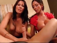 Pov step mom and aunt giving son handjob