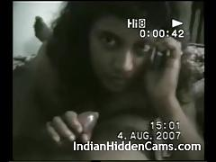 Horny indian bhabhi giving blowjob