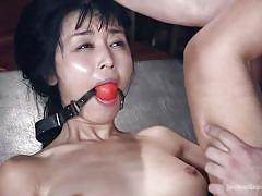 small tits, bdsm, hairy, interracial, asian, vibrator, brunette, anal penetration, ball gag, rope bondage, sex and submission, kink, tommy pistol, marica hase