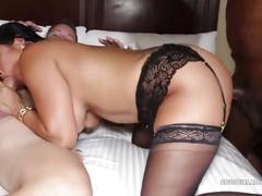 800dad - hot asian milf squirts when fucking two cocks