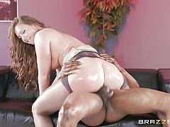 big ass, black, babe, interracial, pantyhose, cowgirl, from behind, anal sex, bbc, big wet butts, brazzers, maddy oreilly, isiah maxwell