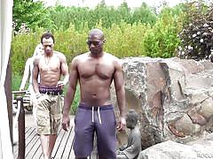 Stasia is getting banged by two black guys @ boss bitch's interracial anal 3-some