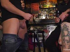 Lilyan red enjoys making a scene at the bar