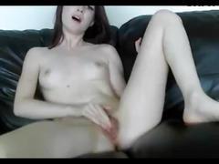 19yo spreads legs rubs pussy