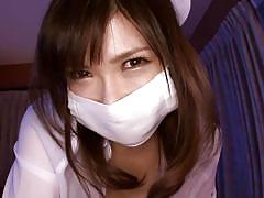 milf, japanese, brunette, cosplay, japanese nurse, pov, cock sucking, cosplay in japan, erito, anri okita