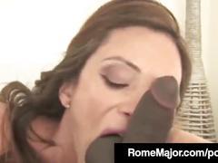 Hot babe ariella ferrera bangs rome major's big black cock!