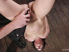 Cherry is tortured while hanging down