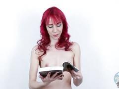 Topless girls reading: the hobbit