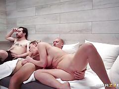 Milf shows her man the meaning of being a cuckold