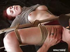 Tied up and rammed by a dominant master