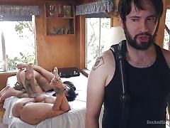 threesome, bdsm, whipping, deepthroat, bound, domination, tattooed, gagged, sex slave, rope bondage, sex and submission, kink, tommy pistol, lily lane, avi love