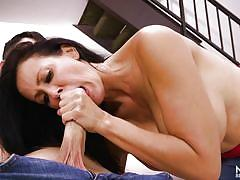 milf, handjob, deepthroat, big boobs, kissing, seduce, brunette, big dick, boobs groping, mommy blows best, myxxxpass, reagan foxx, connor kane