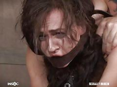 Bounded milf couldn't control her orgasm
