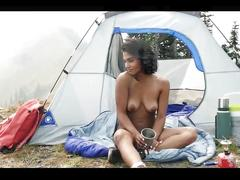 Angel constance strip dancing outdoors