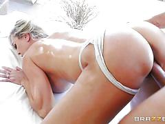 milf, blonde, massage, big tits, big cock, fucking, ass fingering, bubble butt, foot fetish, from behind, dirty masseur, brazzers network, brandi love, keiran lee
