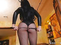 Big butt brunette loves to get spanked by bf