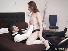 Jessie fucks the waiter of the party