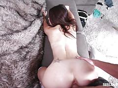 babe, bubble butt, socks, from behind, hard fucking, pov sex, stepsiblings, sis loves me, lacey channing