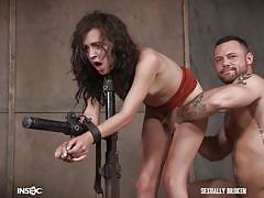 bdsm, babe, slave, domination, master, fingering, dungeon, from behind, device bondage, standing sex, sexually broken, sergeant miles, alex more