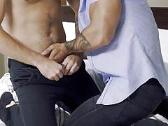 Cheating husband having sex with his gay partner