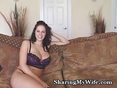 Busty wifey devours huge cock