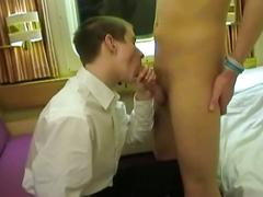 Ablaze young cabin boys lustful barebacking fuck