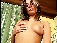 Brunette babe strips and teases - manuel bengochea