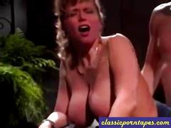 Busty secretary banged in a vintage porno