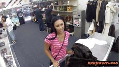 Latina teen pawns her pussy in a pawnshop