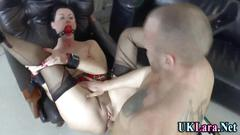 Soldier ass fucks a curvy milf in stockings