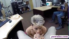 Black bf let the pawn man fucked her sexy gf for money