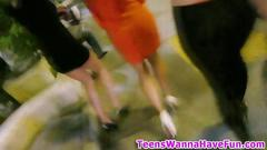 Real flashing teens create a stir in public